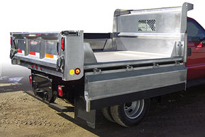 Aluminum Dump Body with Fold Down Sides